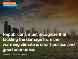 """The Invading Sea: """"Republicans must recognize that tackling the damage from the warming climate is smart politics and good economics"""" by Reps. Carlos Curbelo and Ryan Costello"""