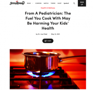 """Scary Mommy: """"From A Pediatrician: The Fuel You Cook With May Be Harming Your Kids' Health"""" by Dr. Lisa Patel"""