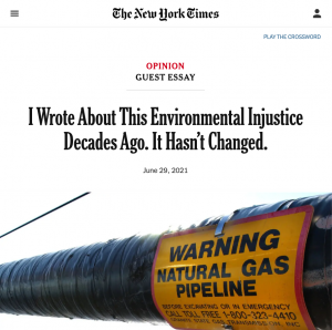 """The New York Times: I Wrote About This Environmental Injustice Decades Ago. It Hasn't Changed."""" by Dr. Robert Bullard"""